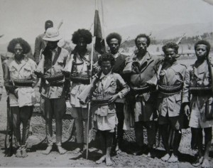 Abyssinian patriot troops