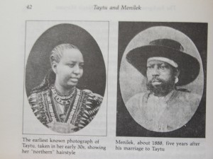 Empress Taytu and Emperor Menelik