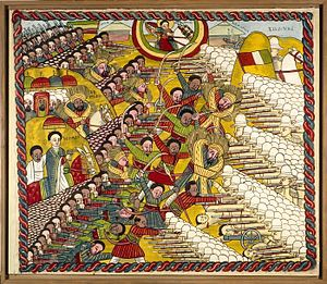 Battle of Adwa - St George assists the Ethiopian forces (credit: Wikipedia)